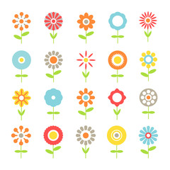 collection of flowers vector  designŒ