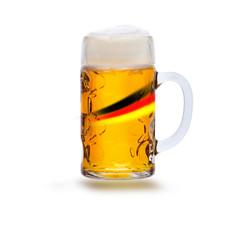 Foto op Aluminium Bier / Cider Fußball und Bier