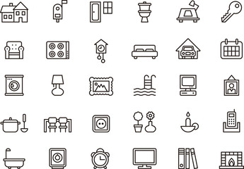House & Home icon set