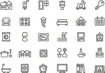 House & Home icon set