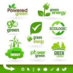 Bio - Ecology - Green icon set