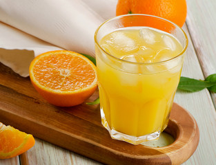 Glass of  orange juice