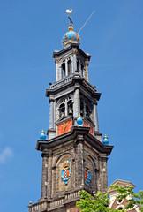 Fototapete - Amsterdam - Wester Tower - Westerkerk