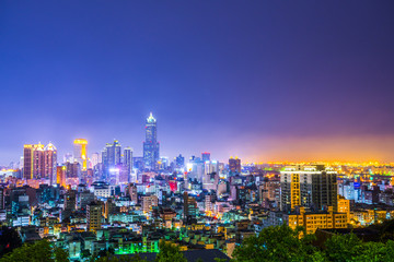 Night view of the city in Kaohsiung - Taiwan