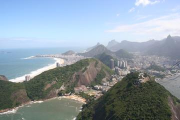 Copacabana from Sugarloaf Mountain, Rio de Janeiro, Brazil