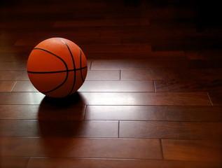 Basketball ball on the floor