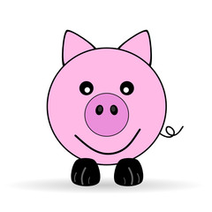 cute piggy vector illustration