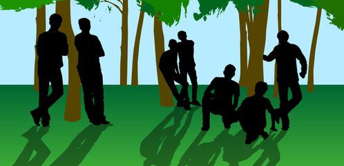 guys near a tree 4