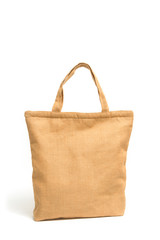 Shopping bag made out of recycled sack cloth