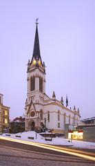 Dr. Farsky Evangelic church in Jablonec nad Nisou. Czech