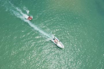 People having fun on the water