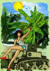 Viva revolution ! Hand drawn illustration