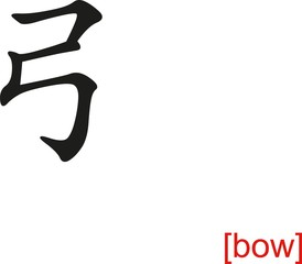 Chinese Sign for bow