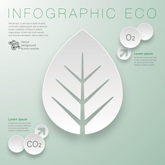 Infographics Vector Background ECO