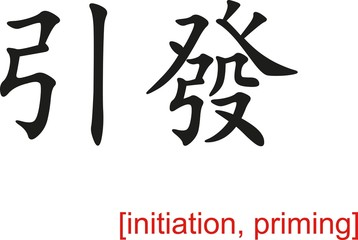 Chinese Sign for initiation, priming