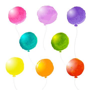Watercolor Balloons Set
