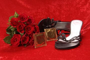 Rosen und Kondome im Bordell