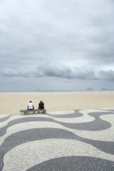 Copacabana Beach Overcast Rio de Janeiro Brazil