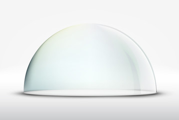glass dome on white background Wall mural