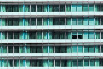 Open green window glass wall
