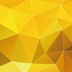Abstract Triangle Geometrical Multicolored Background, Yellow