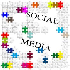 social média puzzle