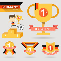 the winner first prize with germany flag