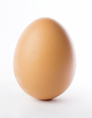 Egg standding isolated