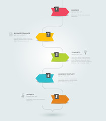 Timeline infographic. Minimalistic flat template. Vector.