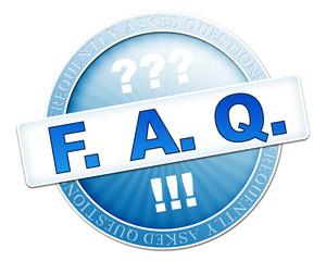 faq button blue