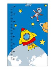 bumper children meter wall. space theme