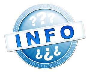 info button blue