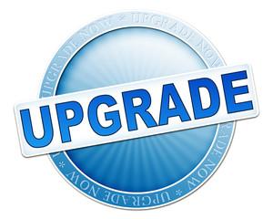 upgrade button blue