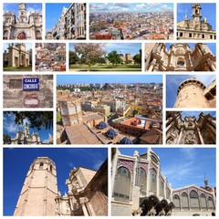 Valencia, Spain - image collage