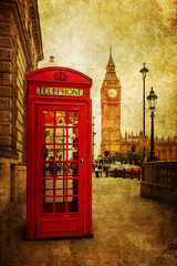 Fototapete - nostalgisch texturiertes Bild von London