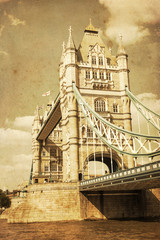 Wall Mural - nostalgisch texturiertes Bild der Tower Bridge