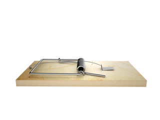 mousetrap, isolated on a white background
