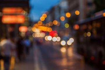 defokussierter Nachtverkehr