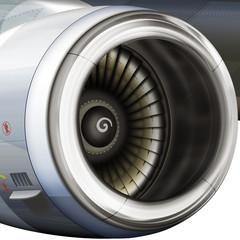 modernes Flugzeugtriebwerk