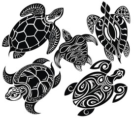 Set of turtles