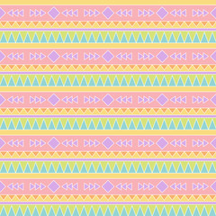 Seamless Tileable Vector Background in Pastel Tribal Style