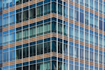 Windows of office buildings, Modern business background