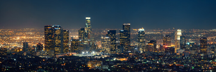 Los Angeles at night Fotobehang