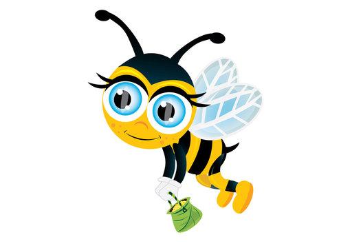 lecąca pszczółka