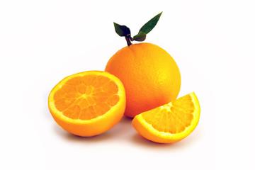 Oranges isoated on white background