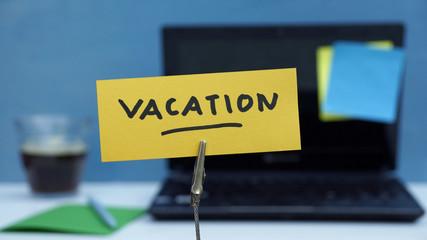 Vacation written