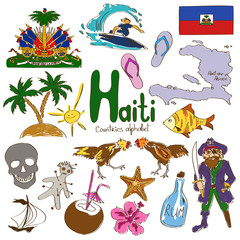 Collection of Haiti icons