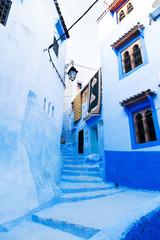 Foto op Canvas Marokko Blu city