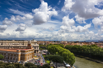 High point view over city of Rome Italy