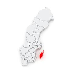 Map of Gotland. Sweden.